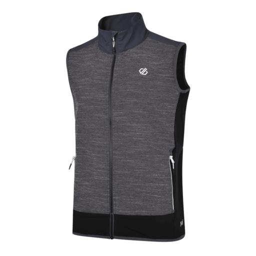 Dare 2b Men's Appertain II Softshell Vest – Charcoal Grey Marl / Black