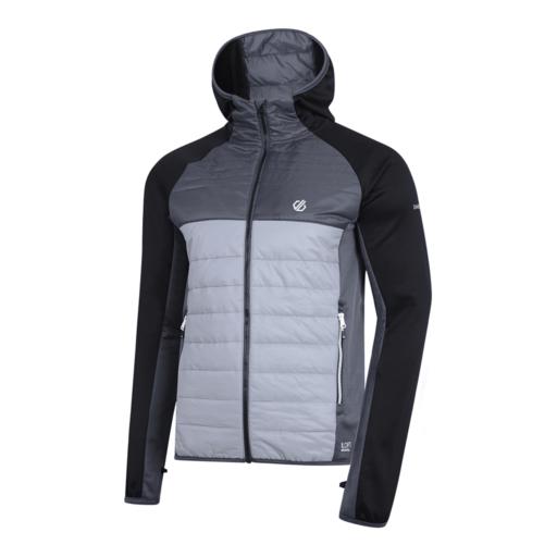 Dare 2b Men's Coordinate Wool Hybrid Jacket – Black / Aluminium Grey / Ebony Grey