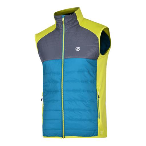 Dare 2b Men's Coordinate Wool Vest – Ocean Depths / Ebony Grey / Citron Lime