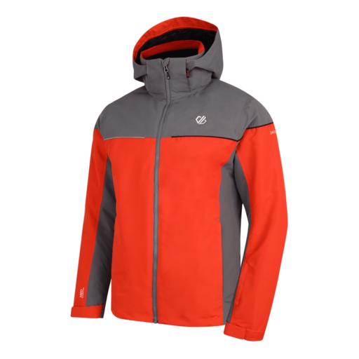 Dare 2b Men's Cohere Ski Jacket – Fiery Red / Aluminium Grey