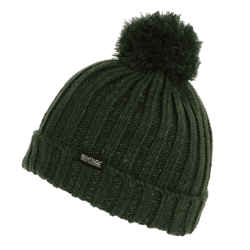 Regatta Kid's Luminosity III Reflective Bobble Hat – Dark Khaki