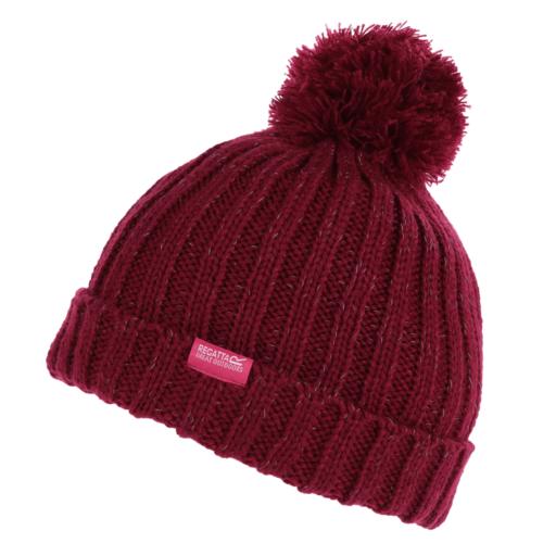 Regatta Kid's Luminosity III Reflective Bobble Hat – Beetroot