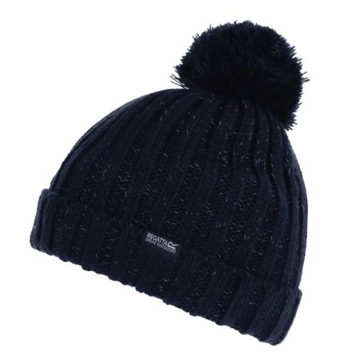 Regatta Kid's Luminosity III Reflective Bobble Hat – Navy