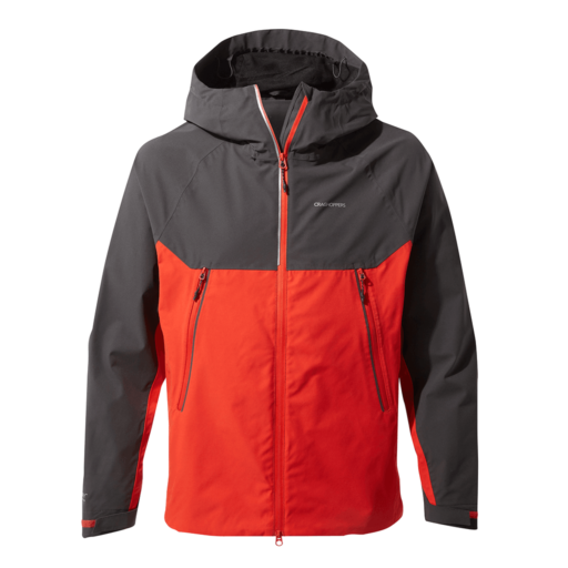 Craghoppers Men's Trelawney Jacket – Black Pepper / Aster Red