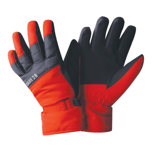 Dare 2b Kid's Mischievous Glove – Fiery Red / Ebony Grey