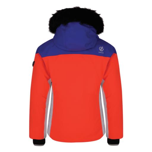 Dare 2b Kid's Vast Ski Jacket – Fiery Coral / Simply Purple