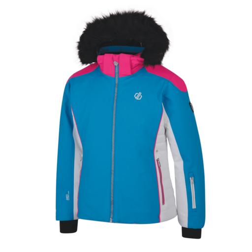 Dare 2b Kid's Vast Ski Jacket – Atlantic Blue / Cyber Pink