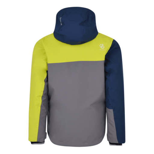 Dare 2b Kid's Chancer Ski Jacket – Aluminium Grey / Admiral Blue / Citron Lime