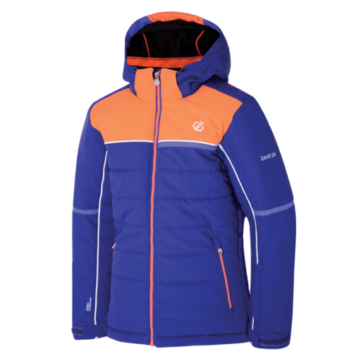 Dare 2b Kid's Initiator Ski Jacket – Spectrum Blue / Fiery Coral