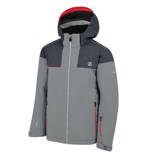 Dare 2b Kid's Entail Ski Jacket – Cloudy Grey / Ebony Grey