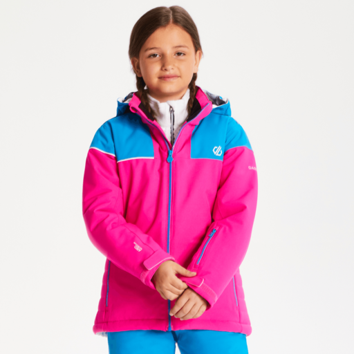 Dare 2b Kid's Entail Ski Jacket – Cyber Pink / Atlantic Blue