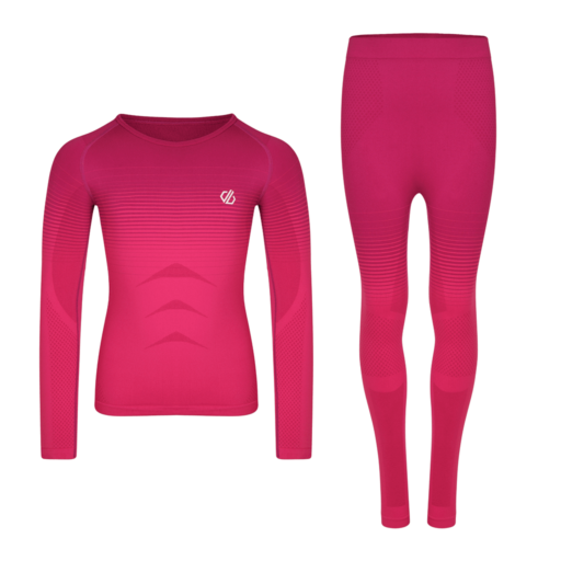 Dare 2b Kid's In The Zone Base Layer Set – Cyber Pink Gradient