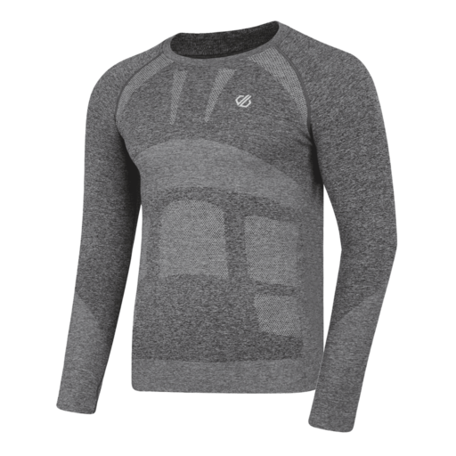 Dare 2b Men's In The Zone Base Layer Long Sleeve Tee  – Charcoal Grey Marl