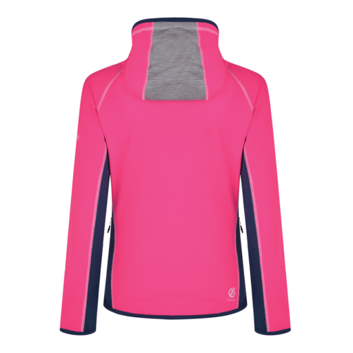 Dare 2b Women's Courteous Core Stretch Midlayer – Cyber Pink / Ash Grey Marl / Blue Wing