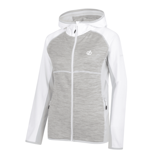 Dare 2b Women's Courteous Core Stretch Midlayer – White / Ash Grey Marl / Argent Grey
