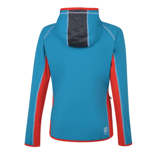 Dare 2b Women's Courteous Core Stretch Midlayer – Freshwater Blue / Charcoal Grey Marl / Lollipop Red