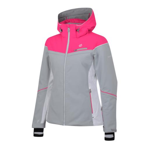 Dare 2b Women's Icecap Ski Jacket – Argent Grey / Cyber Pink
