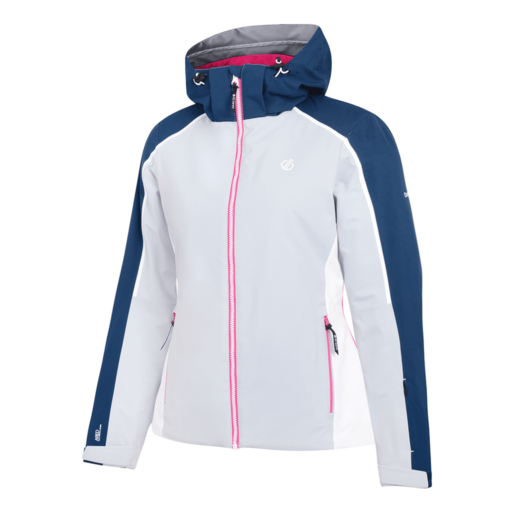 Dare 2b Women's Comity Ski Jacket – Argent Grey / Blue Wing