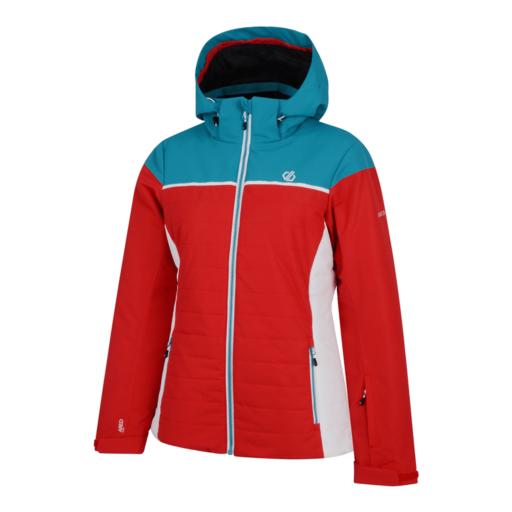 Dare 2b Women's Slightly Ski Jacket – Lollipop Red / Freshwater Blue