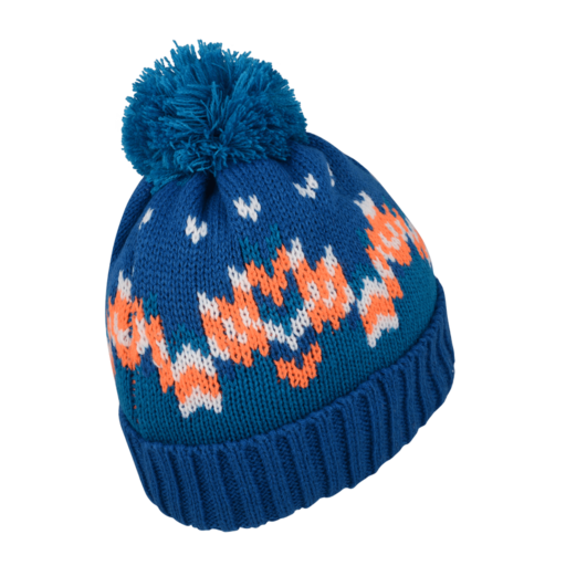 Dare 2b Kid's Agitate Beanie – Oxford Blue / Vibrant Orange