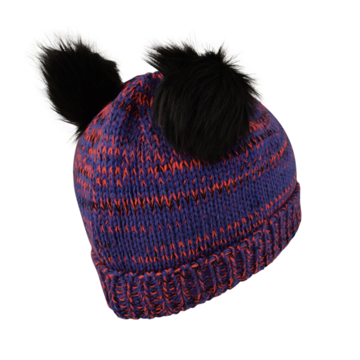 Dare 2b Kid's Hastily Beanie – Simply Purple / Fiery Coral