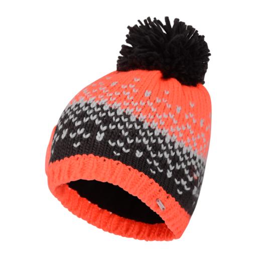 Dare 2b Women's Ideation Beanie – Fiery Coral / Ebony Grey