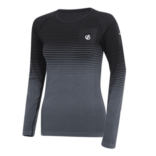 Dare 2b Women's In The Zone Base Layer Long Sleeve Tee – Black Gradient
