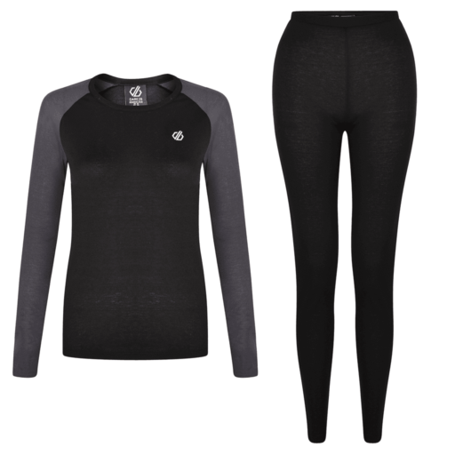 Dare 2b Women's Exchange Base Layer Set – Black / Ebony Grey