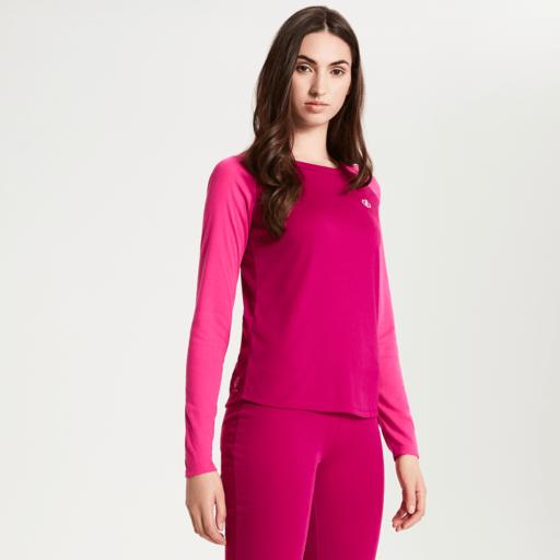 Dare 2b Women's Exchange Base Layer Set – Fuchsia Pink / Cyber Pink