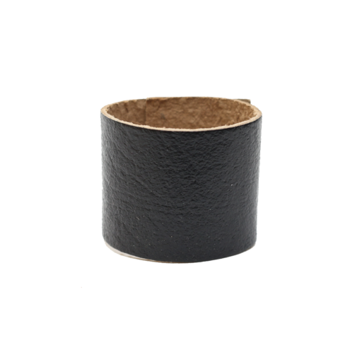Simple Loop Leather Woggle – Thin Leather – Black