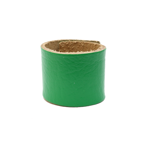 Simple Loop Leather Woggle – Thin Leather – Bright Green