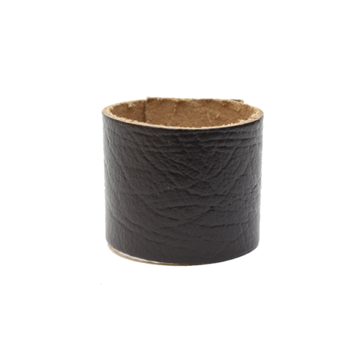 Simple Loop Leather Woggle – Thin Leather – Dark Brown