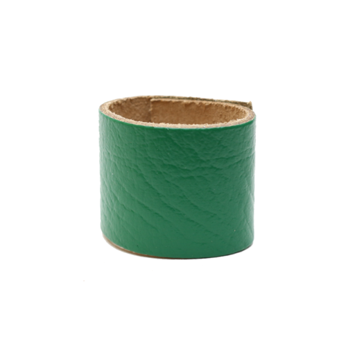 Simple Loop Leather Woggle – Thin Leather – Dark Green