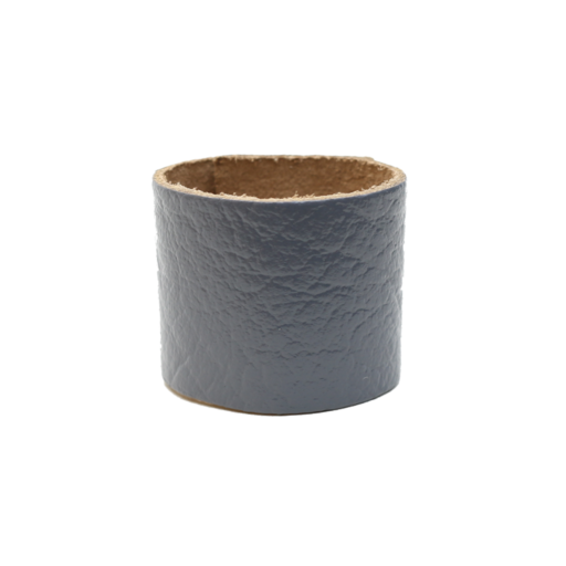 Simple Loop Leather Woggle – Thin Leather – Grey