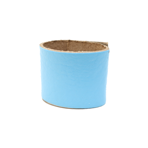Simple Loop Leather Woggle – Thin Leather – Light Blue