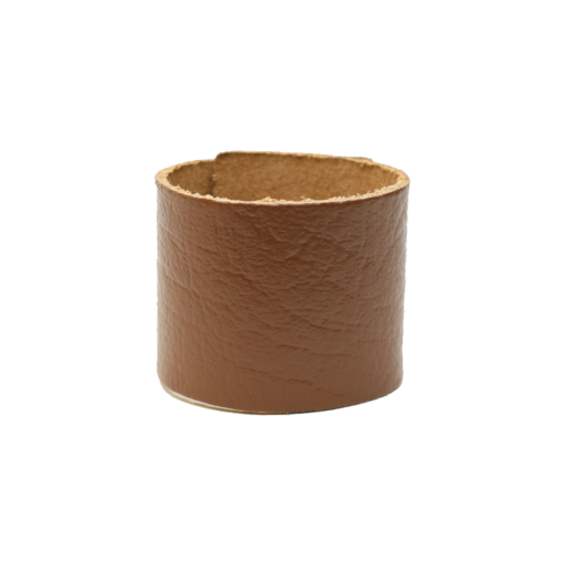 Simple Loop Leather Woggle – Thin Leather – Light Brown