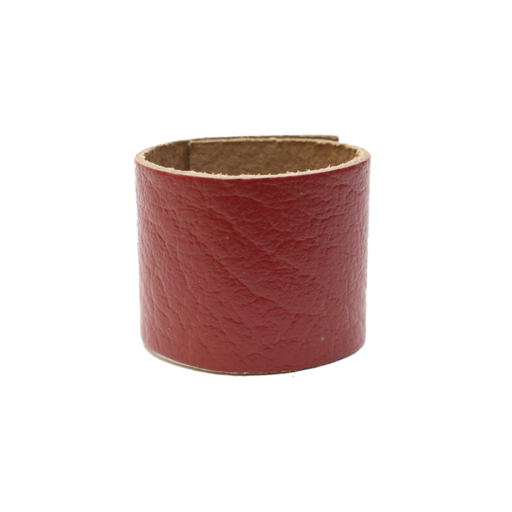 Simple Loop Leather Woggle – Thin Leather – Maroon