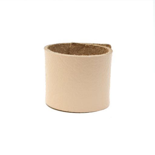 Simple Loop Leather Woggle – Thin Leather – Natural Leather