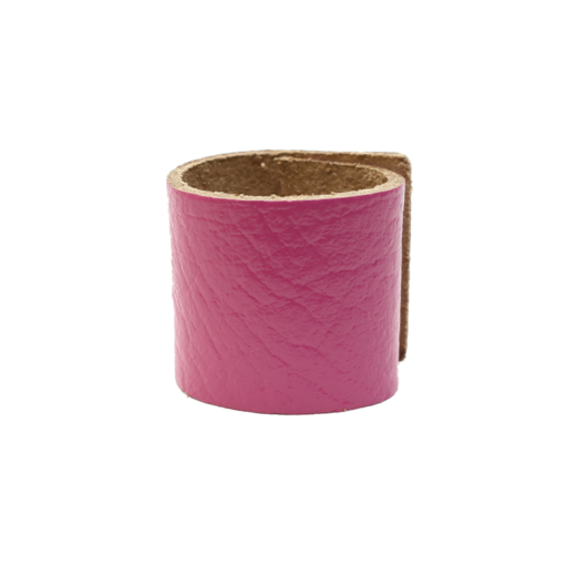 Simple Loop Leather Woggle – Thin Leather – Pink