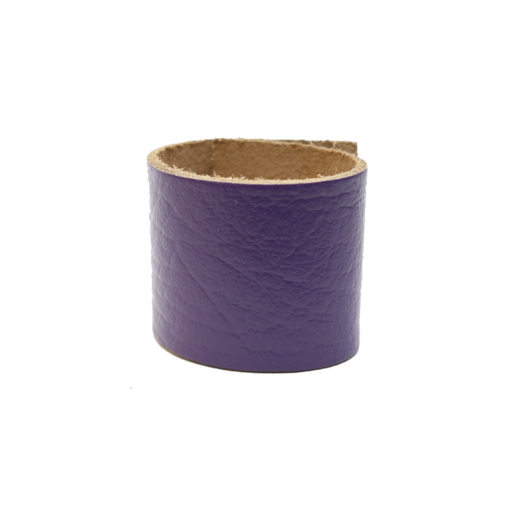 Simple Loop Leather Woggle – Thin Leather – Purple
