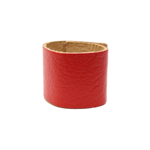 Simple Loop Leather Woggle – Thin Leather – Red
