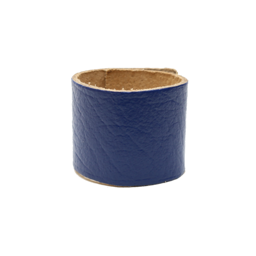 Simple Loop Leather Woggle – Thin Leather – Royal Blue
