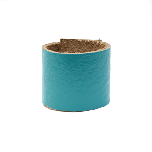 Simple Loop Leather Woggle – Thin Leather – Turquoise
