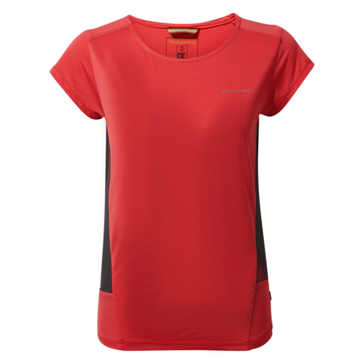 Craghoppers Women's Atmos Short Sleeved T-Shirt – Rio Red