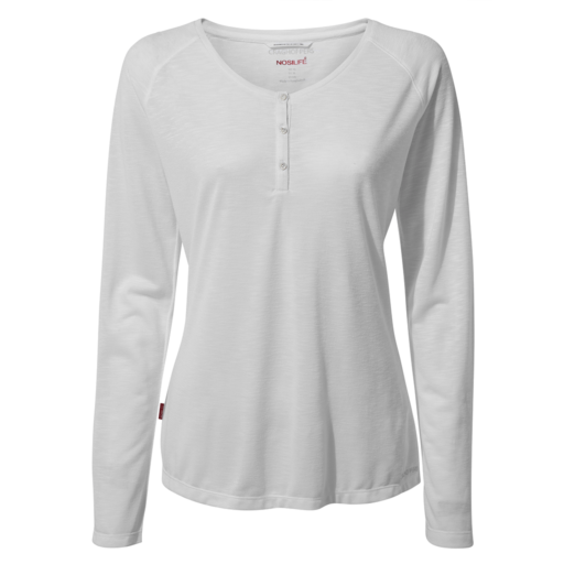 Craghoppers Women's NosiLife Kayla Long Sleeved Top – Optic White