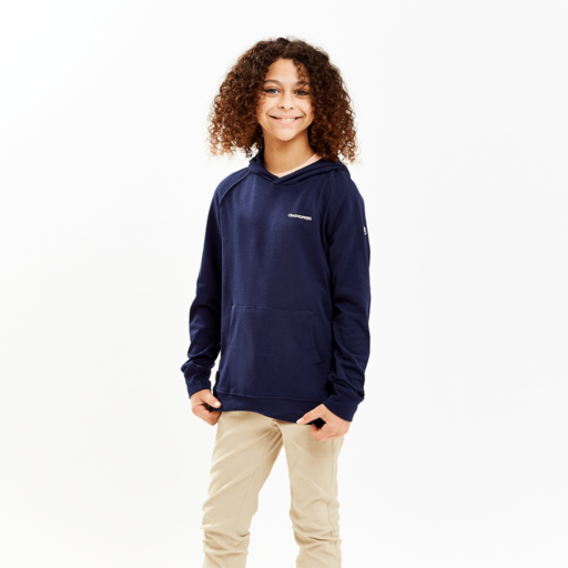 Craghoppers Kid's NosiLife Bonito Hooded Top – Blue Navy