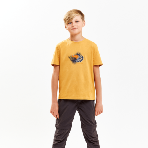 Craghoppers Kid's Rubens Short Sleeved T-Shirt – Golden Yellow