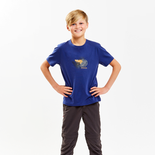Craghoppers Kid's Rubens Short Sleeved T-Shirt – Lapis Blue