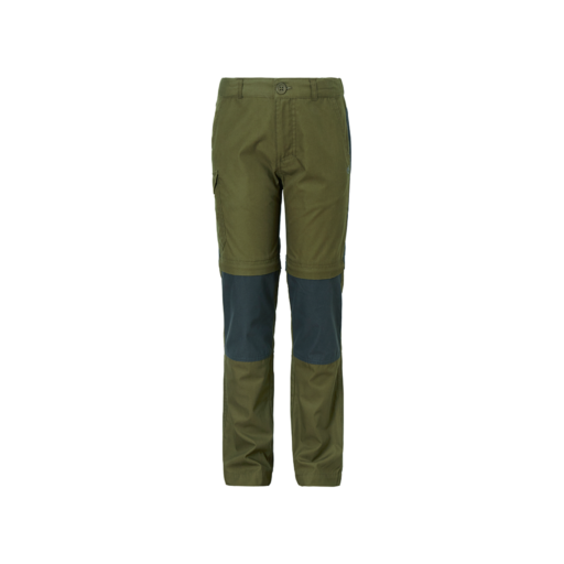 Craghoppers Kid's Cargo Convertible Trousers – Dark Moss