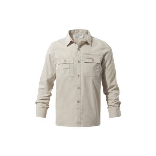 Craghoppers Boy's Adventure Trek Long Sleeved Shirt – Oatmeal
